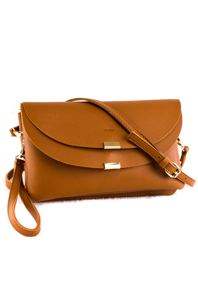 Solid Flap Over Tassels With Front Zipper Clutch With