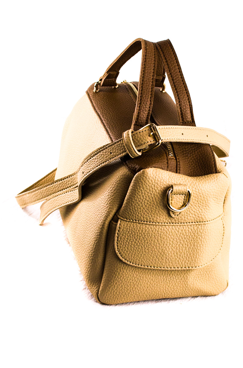 Tassels With Short Handle Satchel Bag With Shoulder Strap