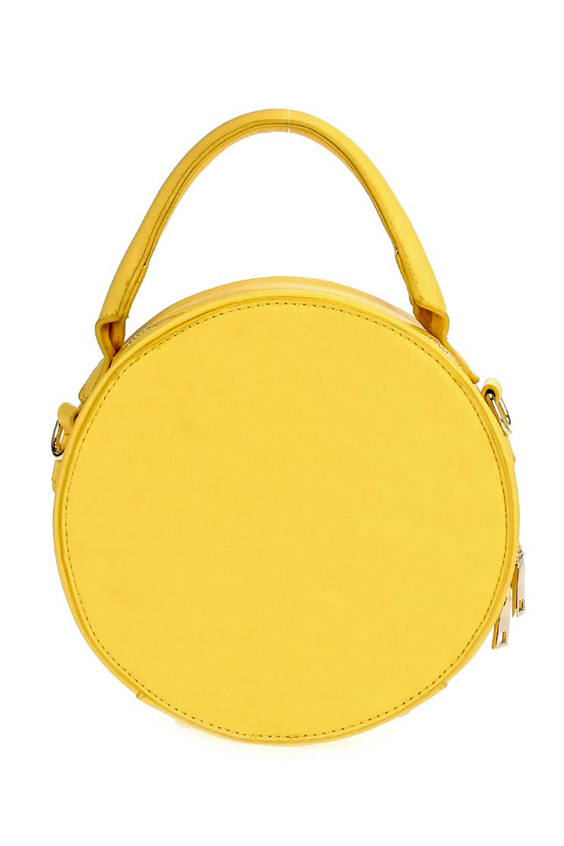 Yellow rounded bag