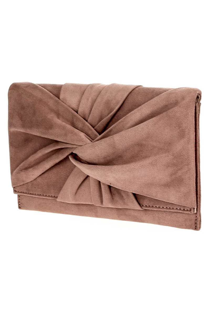 Solid Straw Flap Over With Tassels Clutch With Strap - Agp