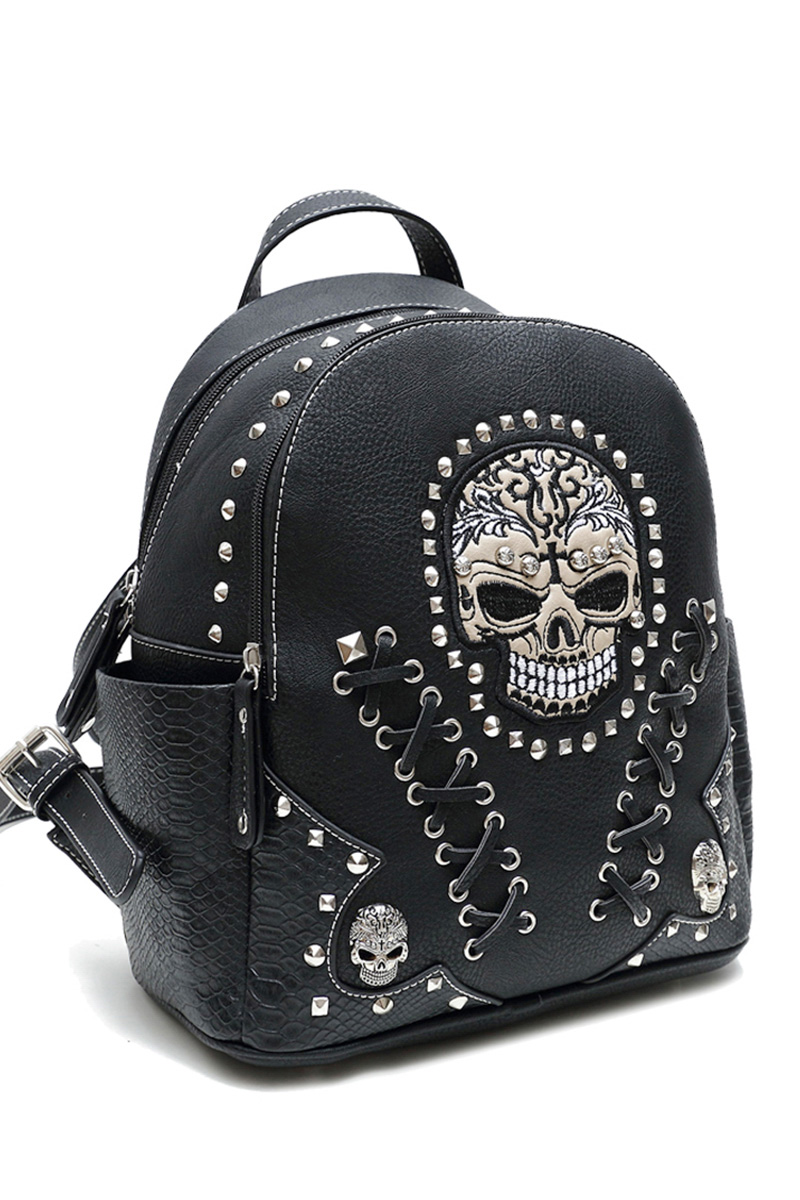 Skull Stitches And Studs Backpack Agp Handbags Amp Apparel