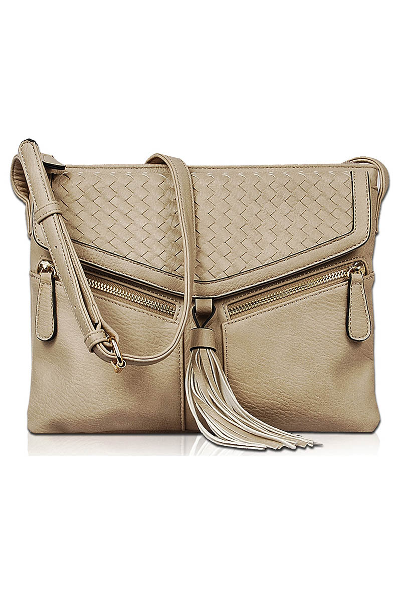 Solid Straw Flap Over Clutch With Chain Strap - Agp