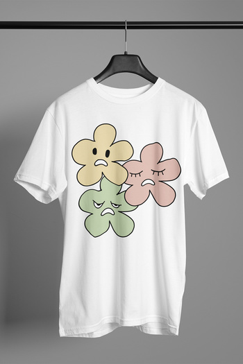 Ugly Flower printed unisex jersey short sleeve tee