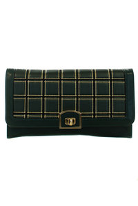 Luxury High End Quilted Envelope Style with Chain Strap Clutch Bag