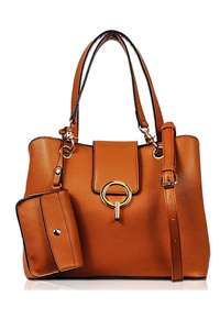 Solid Two In One Flap Over Tote Bag With Shoulder Strap