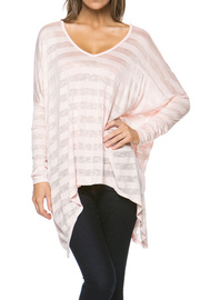 Striped Batwing Top - features batwing sleeves with wide v neck