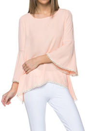 Bell Sleeve Woven Top