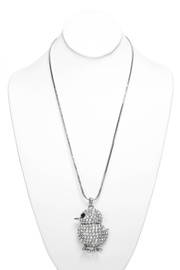 Premium Long Chain Bird Charm Accented Necklace