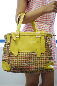 Premium Woven Wool Lunch Box Style Bag