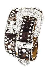 Rhinestone Symbol And Camouflage Print Accented High End Belt