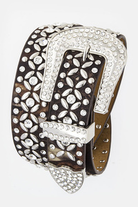 Rhinestones And Various Shape Accented High End Belt