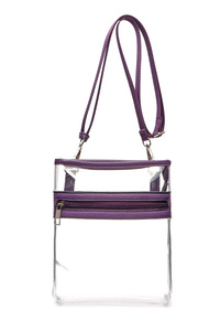 Clear With Solid Messenger Bag With Shoulder Strap