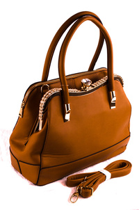 Stones And Clip On And Separate Zipper Compartment Satchel Bag