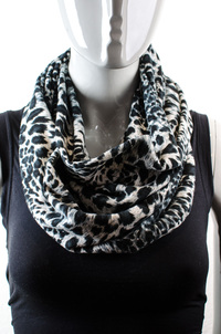 Cheetah Print Infinity Scarf Pre-Pack 10 pcs Assorted Colors