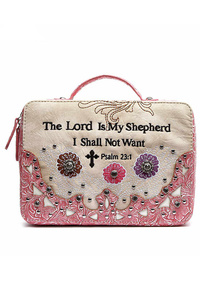 Western Cowgirl Bible Verse With Flower Bible Cover
