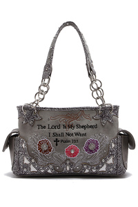 Western Cowgirl Bible Verse With Flower Satchel Bag