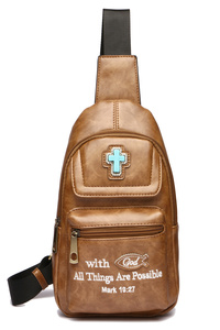 "Bible Verse "" With God All Things Are Possible"" Accented Backpack"