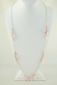 Tear Drop Glass Beads Deco Necklace and Earring Set