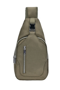 Solid Front Zipper Compartment Backpack
