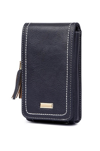 Solid Tassels Flap Over Cellphone Case With Wallet