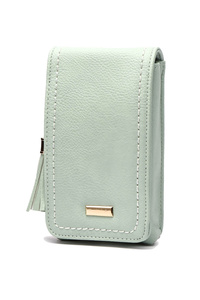 Solid Cellphone And Wallet With Tassels And Shoulder Strap