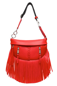 Solid Fringe Front Zippered Fanny Pack