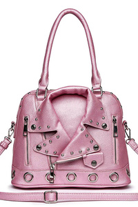 Solid Jacket Inspired Satchel Handbag With Shoulder Strap