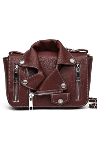 Solid Jacket Inspired Messenger Handbag With Strap