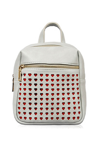 Heart Shape Laser Cut Front Zipper Backpack