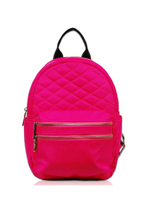 Solid Quilted Neon Color Backpack