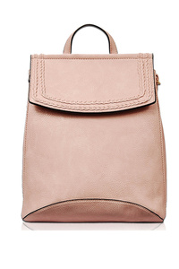Solid Flap Over Classic Backpack With Strap