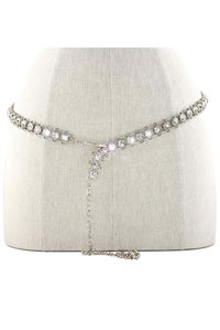 HIGH END DESIGNER FINE CHAIN WITH RHINESTONES BELT