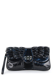 Classic And Gorgeous Solid Shirring Deco Evening Bag