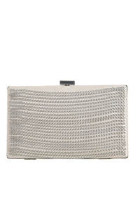 Rows Of Chains Accented Clutch With Strap