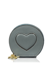 Sold Heart Embo Coin Purse With Clip On