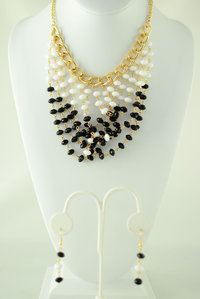 Bead Deco Necklace and Earring Set
