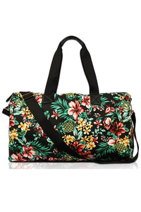 Flower Print Duffle Bag With Double Handle Bag
