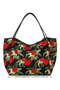 Bohemian Print Double Handle Hobo Bag