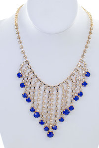 Chain of Stones Statement Necklace Set
