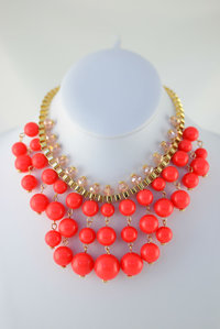 RESTOCK Beads Deco Necklace and  Earring Set