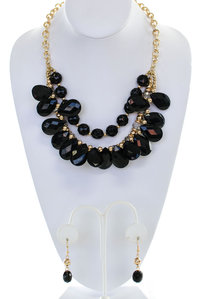 Bead Bib Necklace Set