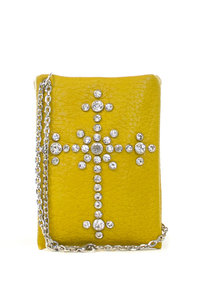 Cross Rhinestones up to 5 inch Smartphone Sleeve with Chain Strap