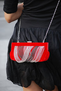 Velvet Chain Deco High End Frame Clutch
