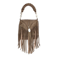 Front Zipper With Long Fringes Single Handle Messenger Bag