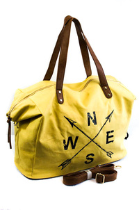 Restocked NSWE Words Canvas Overnight Bag
