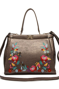Restocked Premium Flower Embo Satchel Bag With Strap