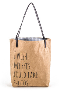 Coated I Wish my Eyes Could Take Photos Iconic Inspirational Tote