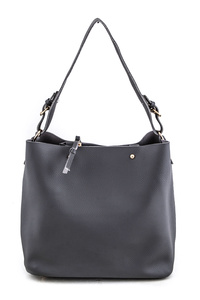 Tow In One Grain Leather Shoulder Bag with Inner Pouch
