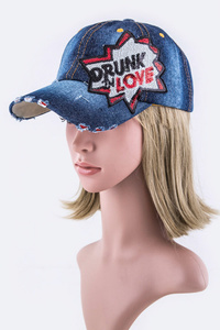 "Crystal Visor ""Drunk In Love"" Fashion Cap"