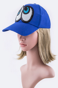 Sequins Eyes Fashion Cap